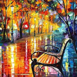 Leonid Afremov - Old Thoughts 3 - PALETTE KNIFE Oil Painting On Canvas By Leonid Afremov