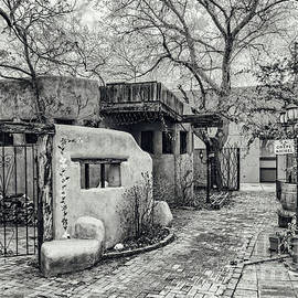 Silvio Ligutti - Old Town Albuquerque Secret Passageway in Black And White - Albuquerque New Mexico