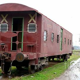 Imran Ahmed - Old weathered Pakistan Railways brake van at Peshawar junction siding