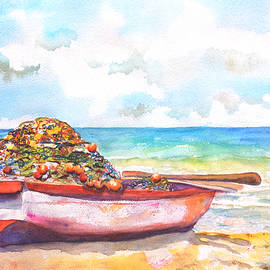 Carlin Blahnik - Old Wood Boat on Beach