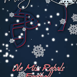 OLE MISS REBELS CHRISTMAS CARD 2 - Joe Hamilton