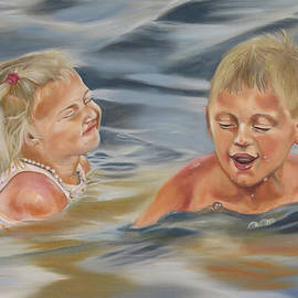 Phyllis Beiser - Olivia And Hayden At The Beach