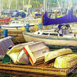 Jean OKeeffe Macro Abundance Art - Olympia Marina Boats