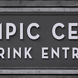 Stephen Stookey - Olympic Center 1932 Rink Entrance - Monochrome