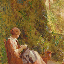 On the Balcony - Henry Thomas Schafer