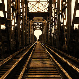 Nathan Little - On the Bridge in Sepia