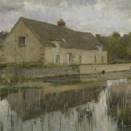 On the Canal - Theodore Robinson