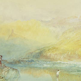 On the Mosell, near Traben Trarabach - Joseph Mallord William Turner