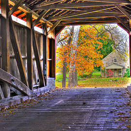 Michael Mazaika - One More Bridge to Cross, Then Home - Poole Forge Covered Bridge No. 6A - Lancaster County PA