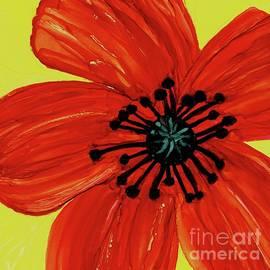 Hao Aiken - One Pretty Red Poppy Flower