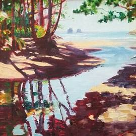 Kathy Gibbs - Onomea in the painterly shadows