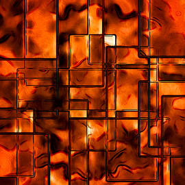 Rick Baker - Orange Abstract