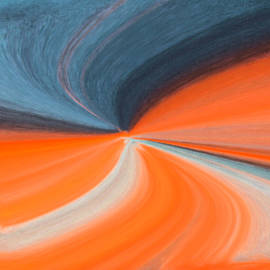 Cynthia Guinn - Orange And Blue Art