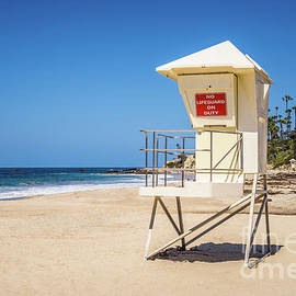 Orange County California Laguna Beach Lifeguard Tower  - Paul Velgos