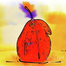 Kirt Tisdale - Orange Pear Watercolor