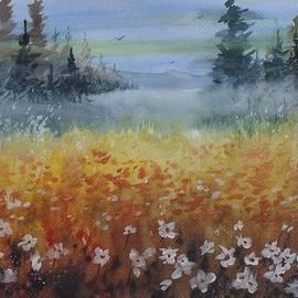 David K Myers - Orange Poppy, Watercolor Painting
