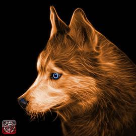 James Ahn - Orange Siberian Husky Art - 6048 - BB