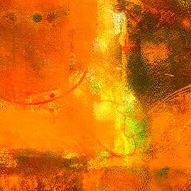 Nancy Merkle - Orbiting the Sun Abstract Painting