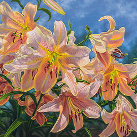 Fiona Craig - Oriental Lilies 2 Red Hot