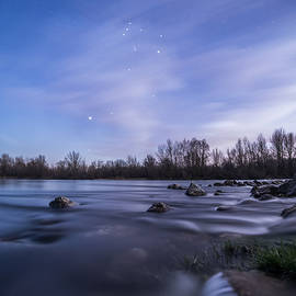 Orion above the river - Davorin Mance