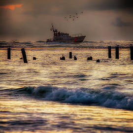 Dan Carmichael - Outer Banks Fishing Boat at Sunrise