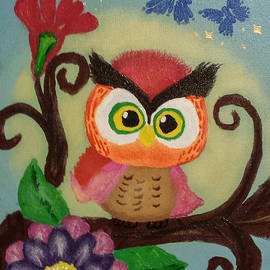 Peggy Franz - Owl Painting  Whimsical