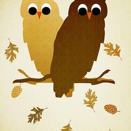 Christina Rollo - Owls Pattern Aged