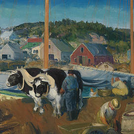 Ox Team, Wharf at Matinicus - George Bellows