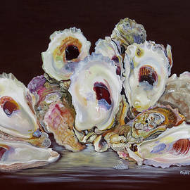 Phyllis Beiser - Oyster Shell Study At Low Tide