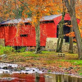 Michael Mazaika - PA Country Roads- Bartrams / Goshen Covered Bridge Over Crum Creek No.11 Chester / Delaware Counties