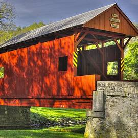 Michael Mazaika - PA Country Roads - Ebenezer Covered Bridge Over Mingo Creek No. 6A - Autumn Washington County
