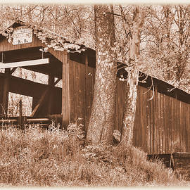 Michael Mazaika - PA Country Roads - Esther Furnace Covered Bridge Over Roaring Creek No. 6AS-Alt - Columbia County