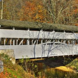Michael Mazaika - PA Country Roads - Knox Covered Bridge Over Valley Creek No. 1C - Valley Forge Park Chester County