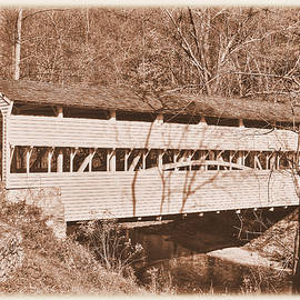Michael Mazaika - PA Country Roads - Knox Covered Bridge Over Valley Creek No. 2AS - Valley Forge Park Chester County