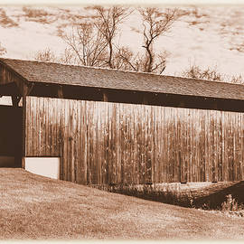 Michael Mazaika - PA Country Roads - Larkin Covered Bridge, Village of Eagle Near Milford Mills No. 9AS - Chester Co.