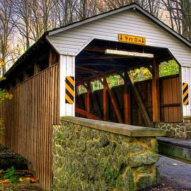 Michael Mazaika - PA Country Roads - Linton-Stevens Covered Bridge Over Big Elk Creek No. 4 - Chester County