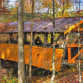 Michael Mazaika - PA Country Roads - The Golden Gate Covered Bridge No. 2 Northwood / Mertz - Northumberland County