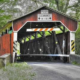 Michael Mazaika - PA Country Roads - Richards Covered Bridge Over Roaring Creek No. 1B-Alt - Columbia County