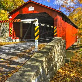 Michael Mazaika - PA Country Roads - Rishel Covered Bridge Over Chillisquaque Creek No. 6 - Northumberland County