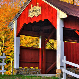 Michael Mazaika - PA Country Roads - Trostletown Covered Bridge Over Stony Creek No. 6A Close1 - Somerset County