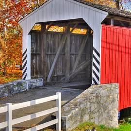 Michael Mazaika - PA Country Roads - Willow Hill Covered Bridge Over Miller