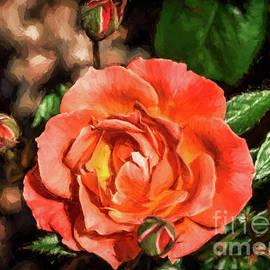 Janice Rae Pariza - Painted Orange Rose