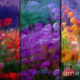 Mindy Sommers - Painted Poppies Triptych