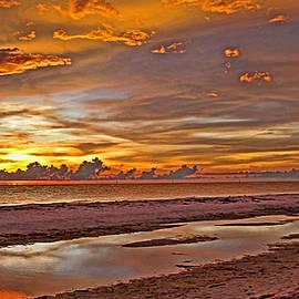 HH Photography of Florida - Painted Sunset Sky Panorama