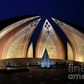 Imran Ahmed - Pakistan Monument illuminated at night Islamabad Pakistan