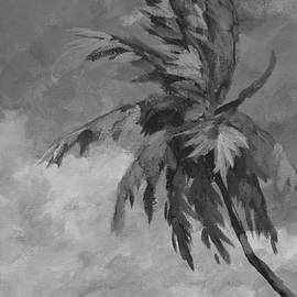 John Clark - Palm against Clouds  Monochrome