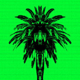 Palm Tree in Green - Edouard Coleman