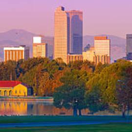 Silvio Ligutti - Panorama of Denver Skyline from Museum of Nature and Science - City Park Denver Colorado