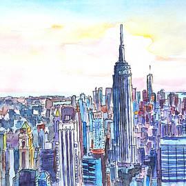 M Bleichner - Panorama of Manhattan Skyline with Brooklyn