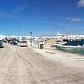 Colette V Hera  Guggenheim  - Panoramic AntiParos Harbour  Island Greece